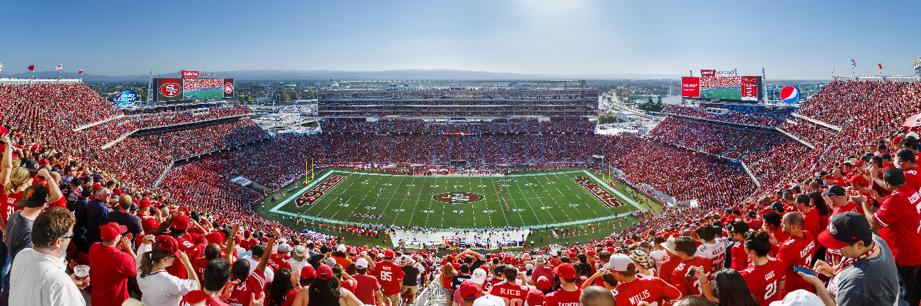 San Francisco 49ers Panoramic Picture - NFL Fan Cave Decor
