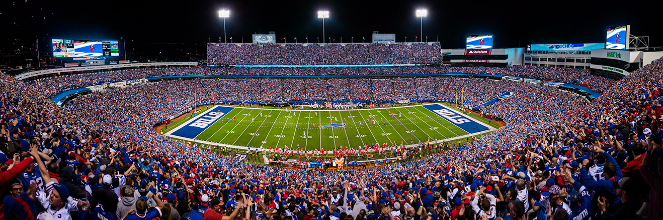 Buffalo Bills Panoramic Picture - NFL Fan Cave Decor