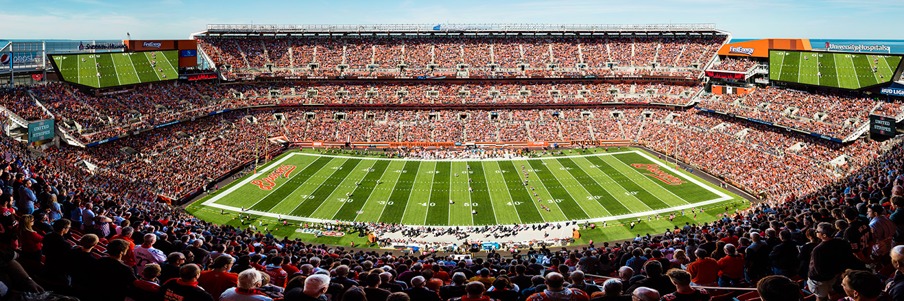 Cleveland Browns Panoramic Picture - NFL Fan Cave Decor