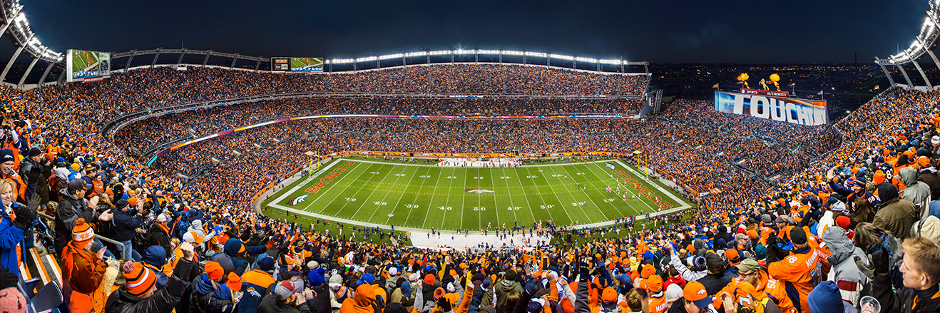 Denver Broncos Panoramic Picture - NFL Fan Cave Decor