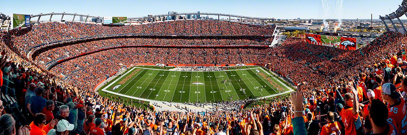Denver Broncos Panoramic Picture - NFL Fan Cave Decor