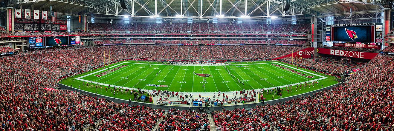 Arizona Cardinals Panoramic Picture - NFL Fan Cave Decor