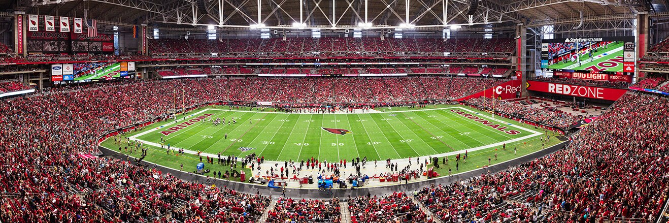 Arizona Cardinals Panoramic Picture - NFL Fan Cave Decor