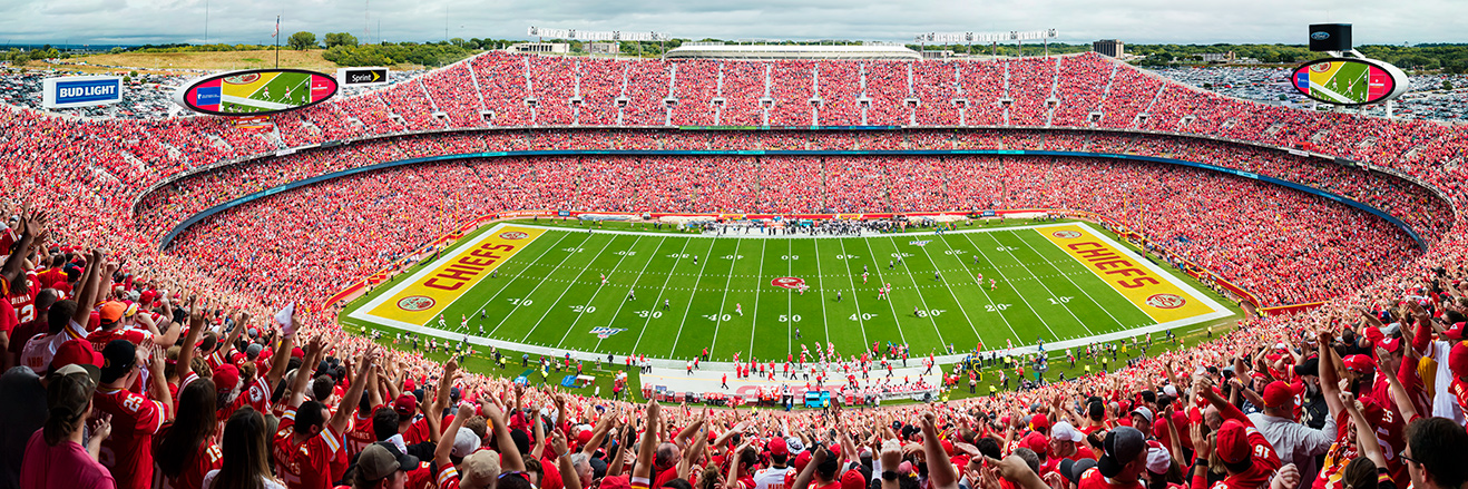 Kansas City Chiefs Panoramic Poster - Arrowhead Stadium Picture - NFL Fan Cave Decor