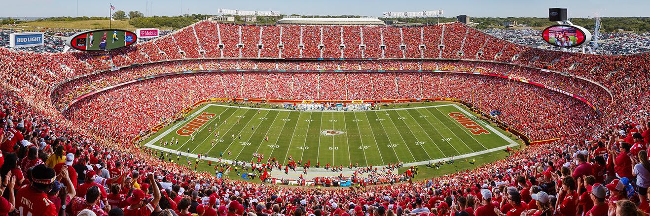 Kansas City Chiefs Panoramic Poster - Arrowhead Stadium Picture - NFL Fan Cave Decor