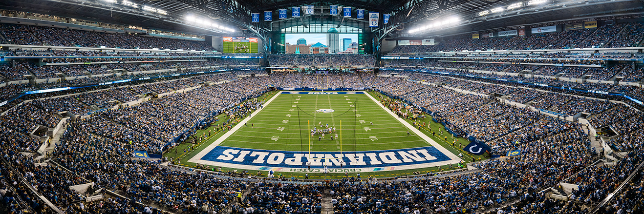 Indianapolis Colts Panoramic Picture - NFL Fan Cave Decor