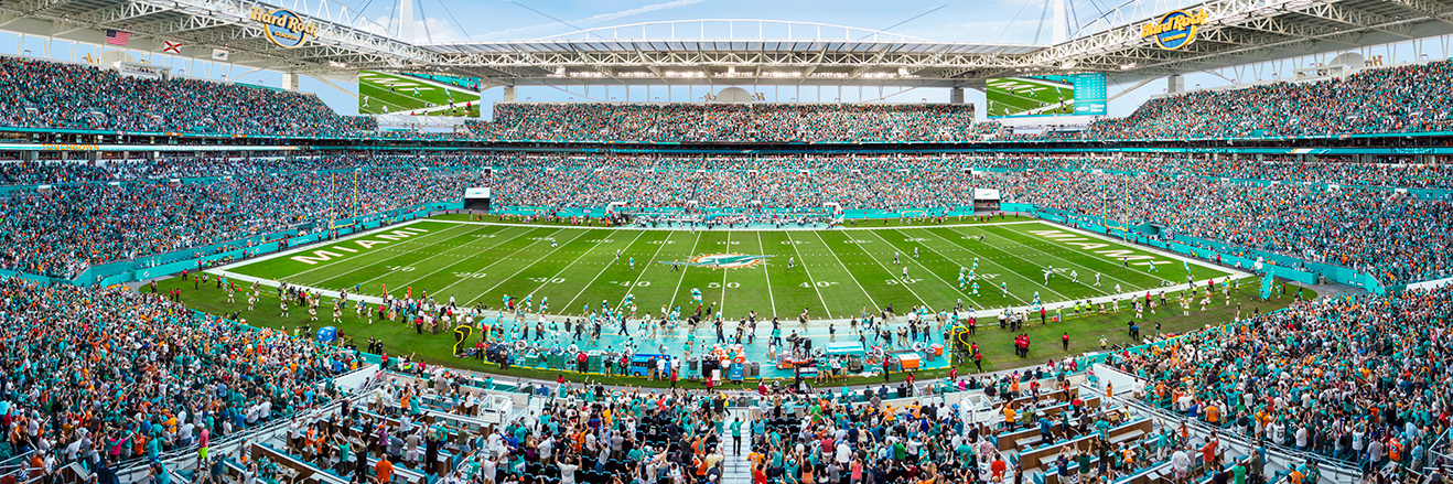 Miami Dolphins Panoramic Picture - NFL Fan Cave Decor