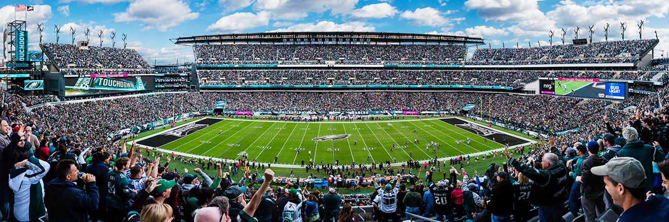 Philadelphia Eagles Panoramic Picture - NFL Fan Cave Decor