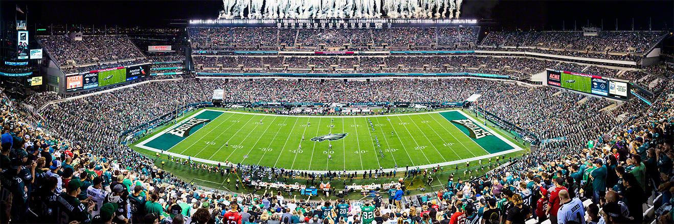 Philadelphia Eagles Panoramic Picture - NFL Fan Cave Decor