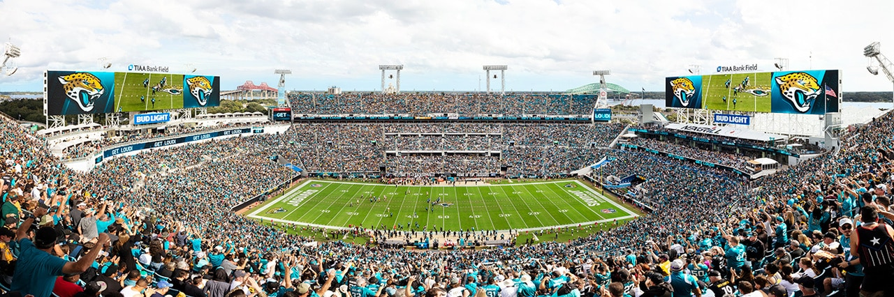 Jacksonville Jaguars Panoramic Picture - NFL Fan Cave Decor