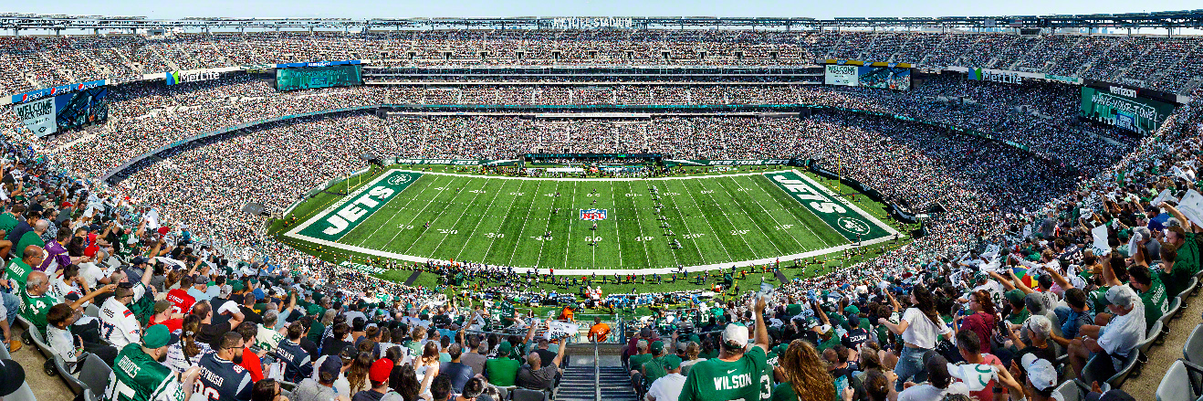 New York Jets Panoramic Picture - NFL Fan Cave Decor