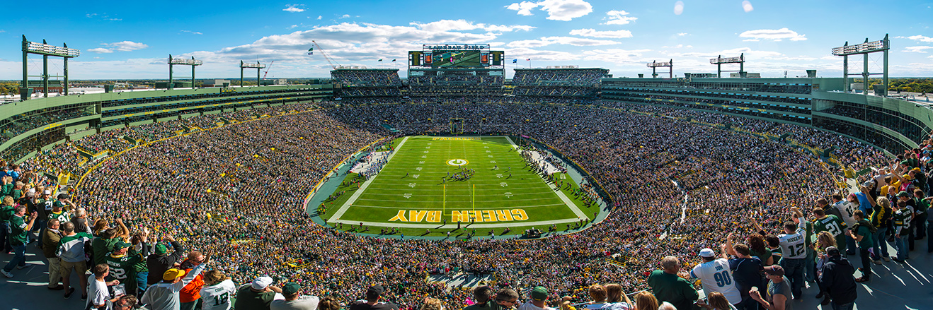 Green Bay Packers Panoramic Picture - NFL Fan Cave Decor