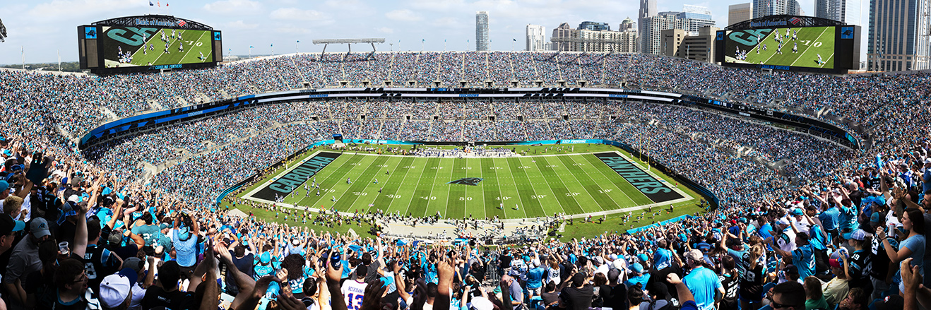 Carolina Panthers Panoramic Picture - NFL Fan Cave Decor