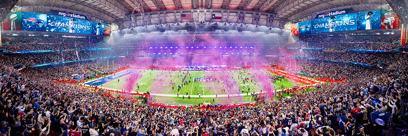 2017 Super Bowl LI Panoramic Picture - New England Patriots Fan Cave Decor
