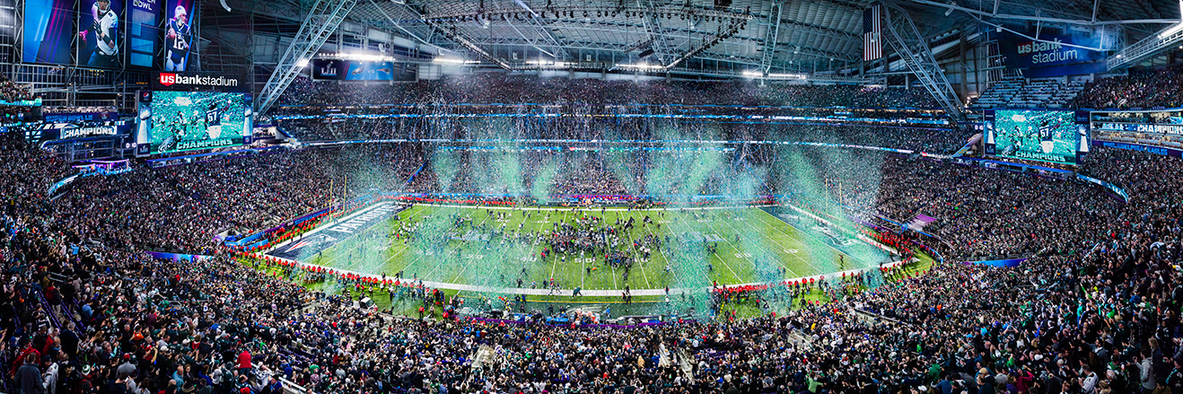 2018 Super Bowl LII Panoramic Picture - Philadelphia Eagles Fan Cave Decor