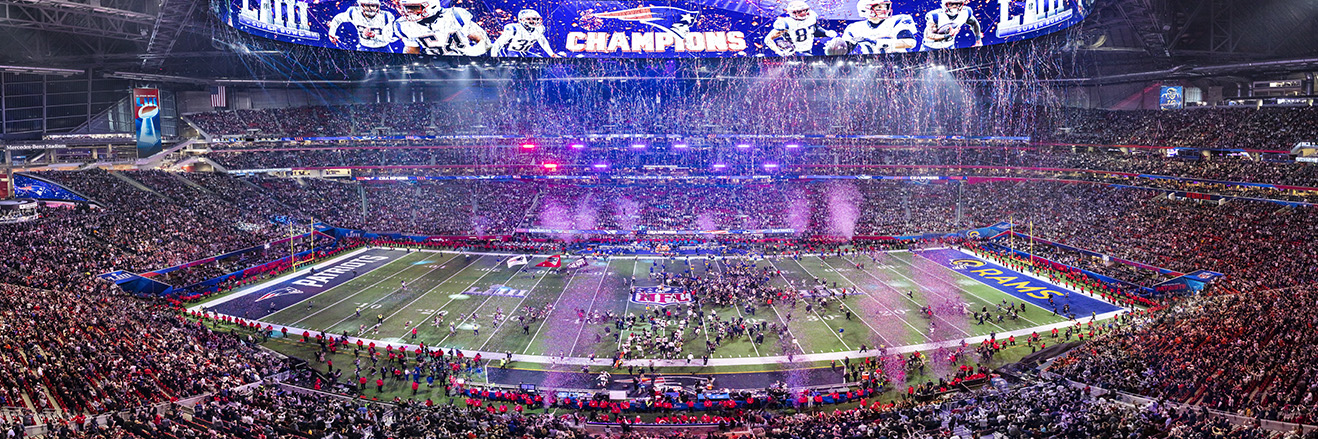 2019 Super Bowl LIII Panoramic Picture - New England Patriots Fan Cave Decor