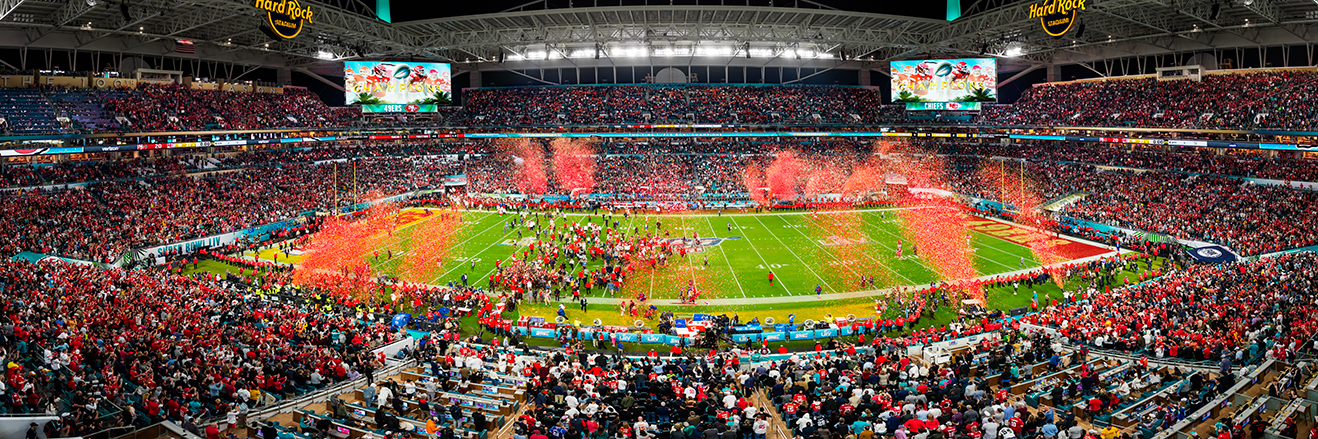 2020 Super Bowl LIV Panoramic Picture - Kansas City Chiefs Fan Cave Decor