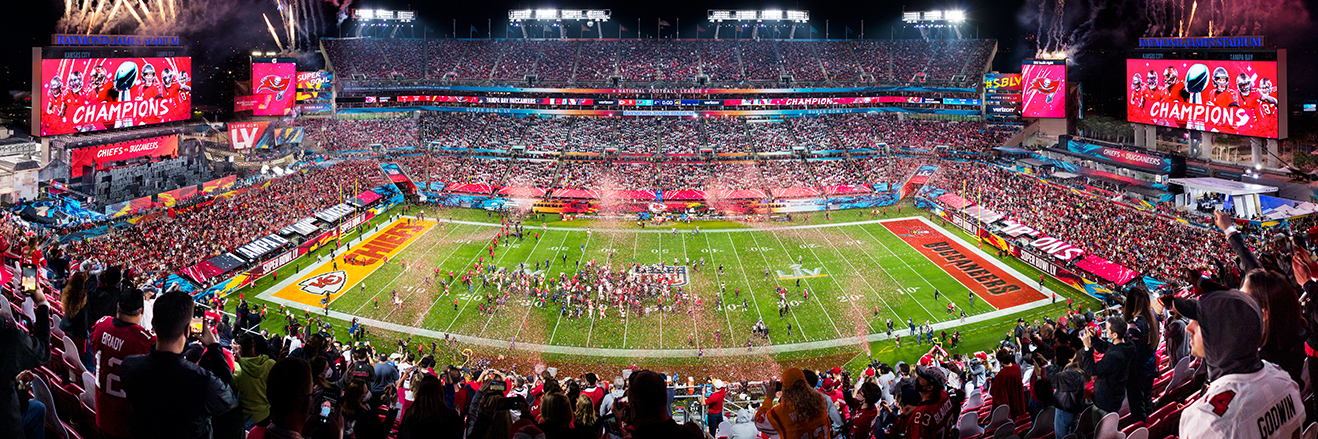 2021 Super Bowl LV Panoramic Picture - Tampa Bay Buccaneers Fan Cave Decor