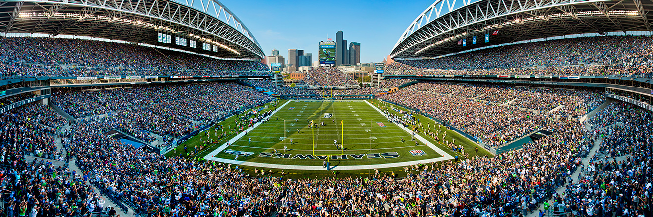 Seattle Seahawks Panoramic Picture - NFL Fan Cave Decor