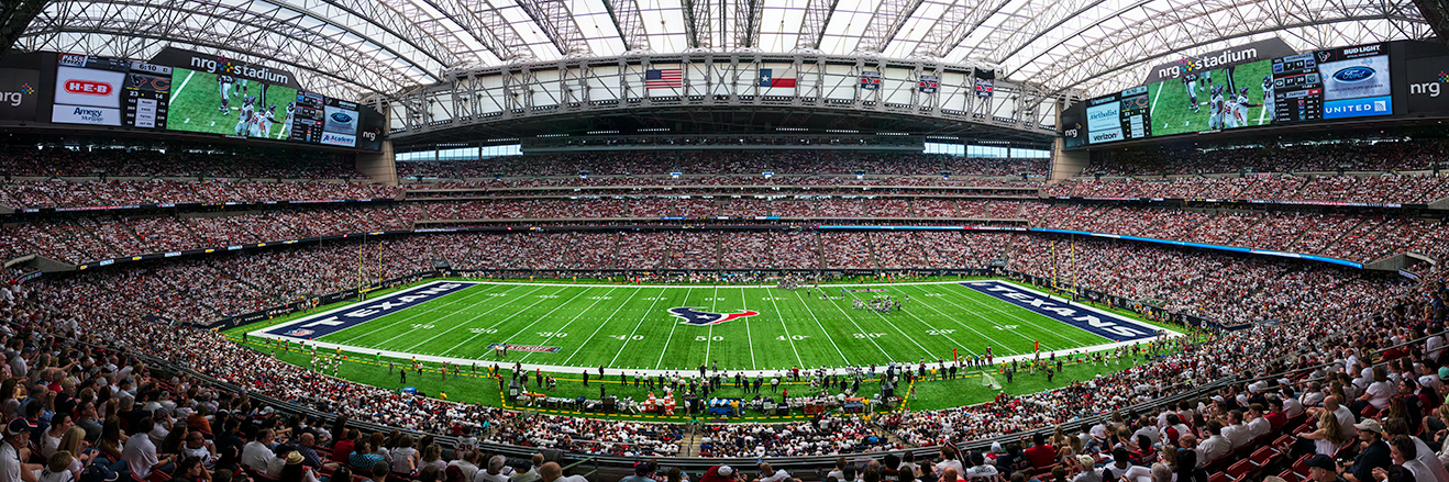 Houston Texans Panoramic Picture - NFL Fan Cave Decor