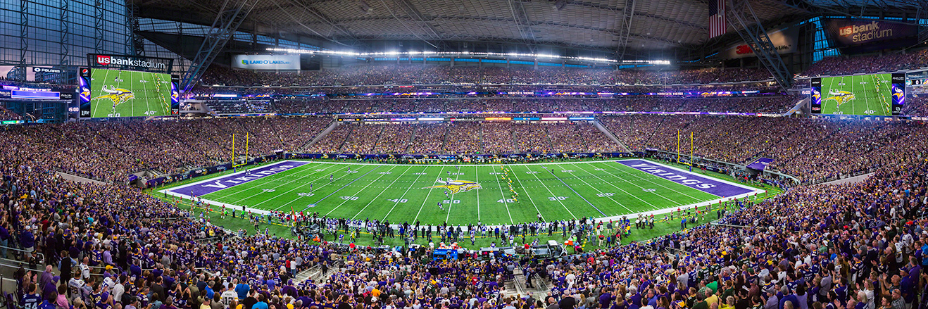 Minnesota Vikings Panoramic Picture - NFL Fan Cave Decor